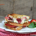 Strawberry, Basil & Brie Grilled Cheese Sandwich from Lemony Thyme1