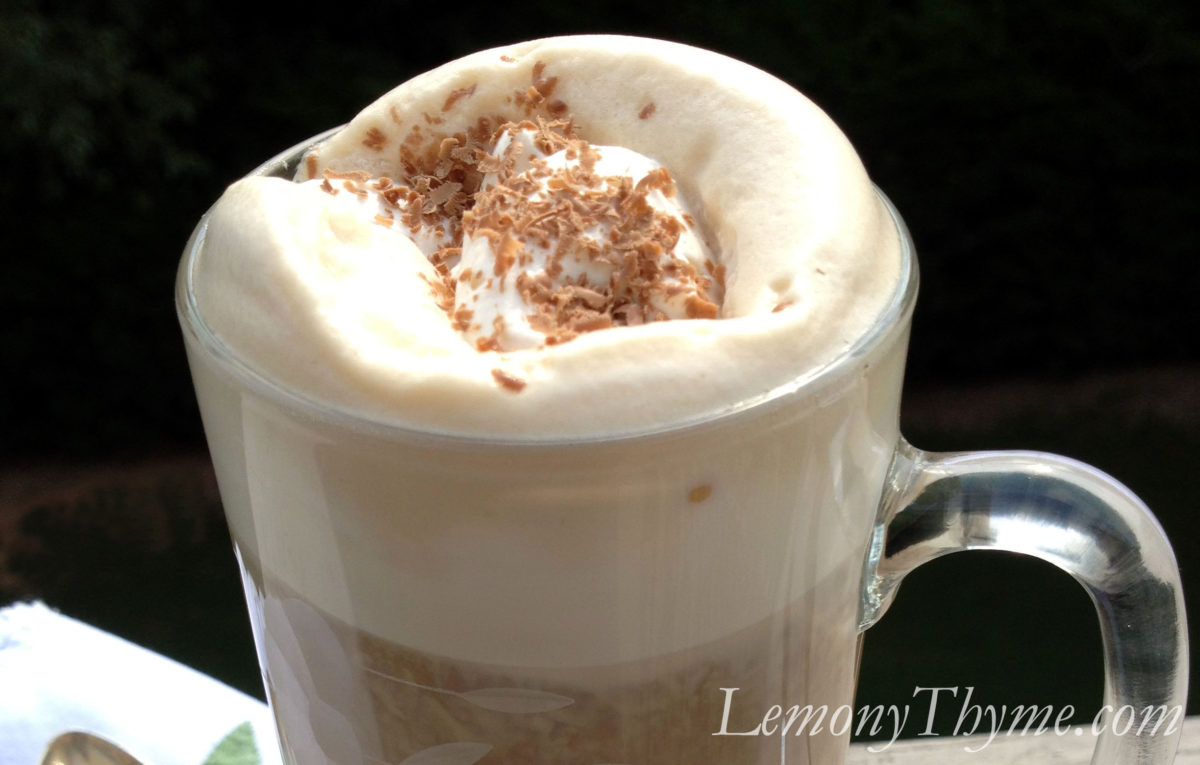 Irish Cream Cappuccino with Kahlua Cream