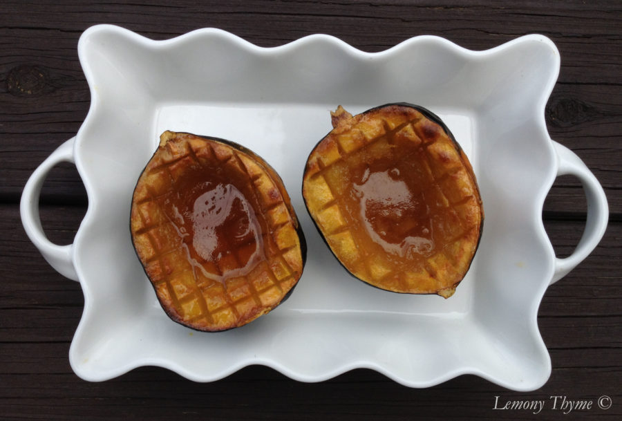 Maple Brown Sugar Baked Acorn Squash Lemony Thyme
