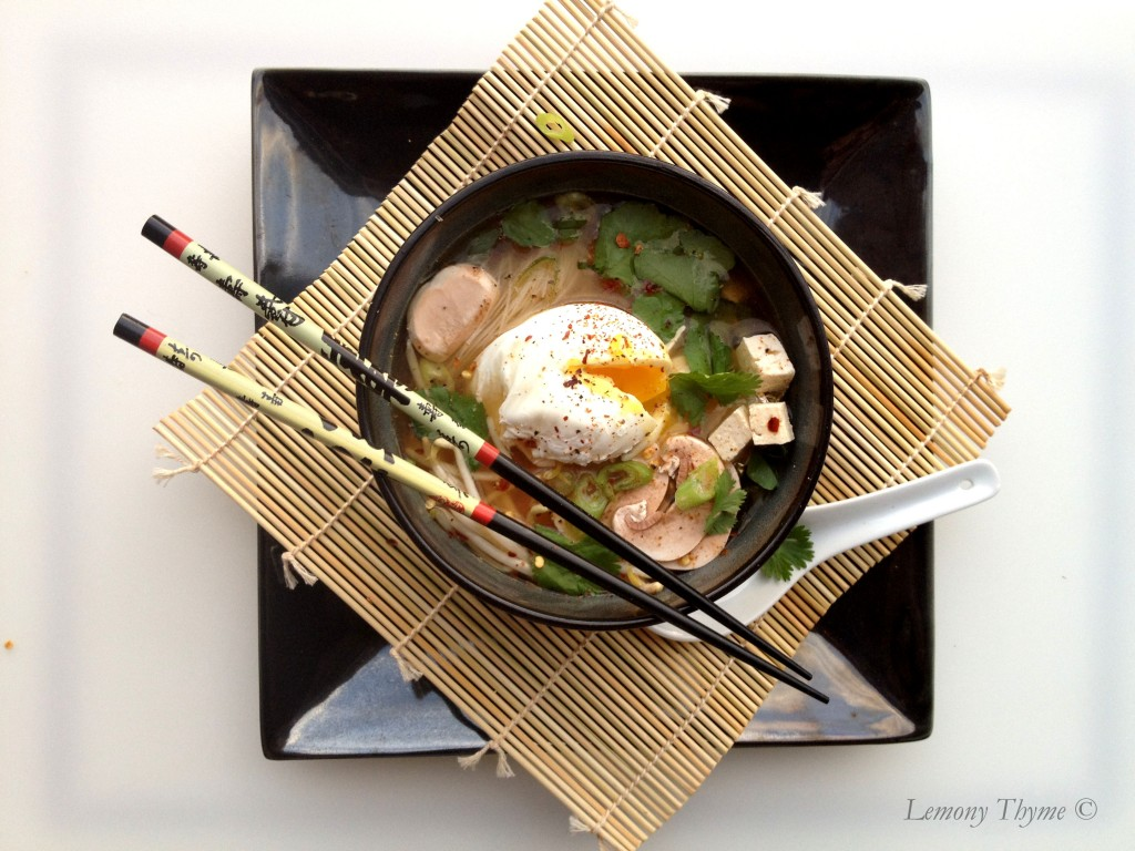 Miso Soup with Poached Egg {Share the Love}