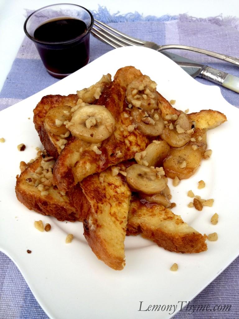 Caramelized Banana Nut French Toast {Breakfast for Dinner} Lemony ...