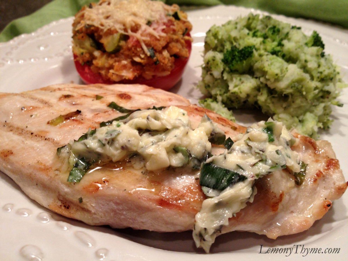 Fresh Herb Grilled Chicken with Basil Herb Butter