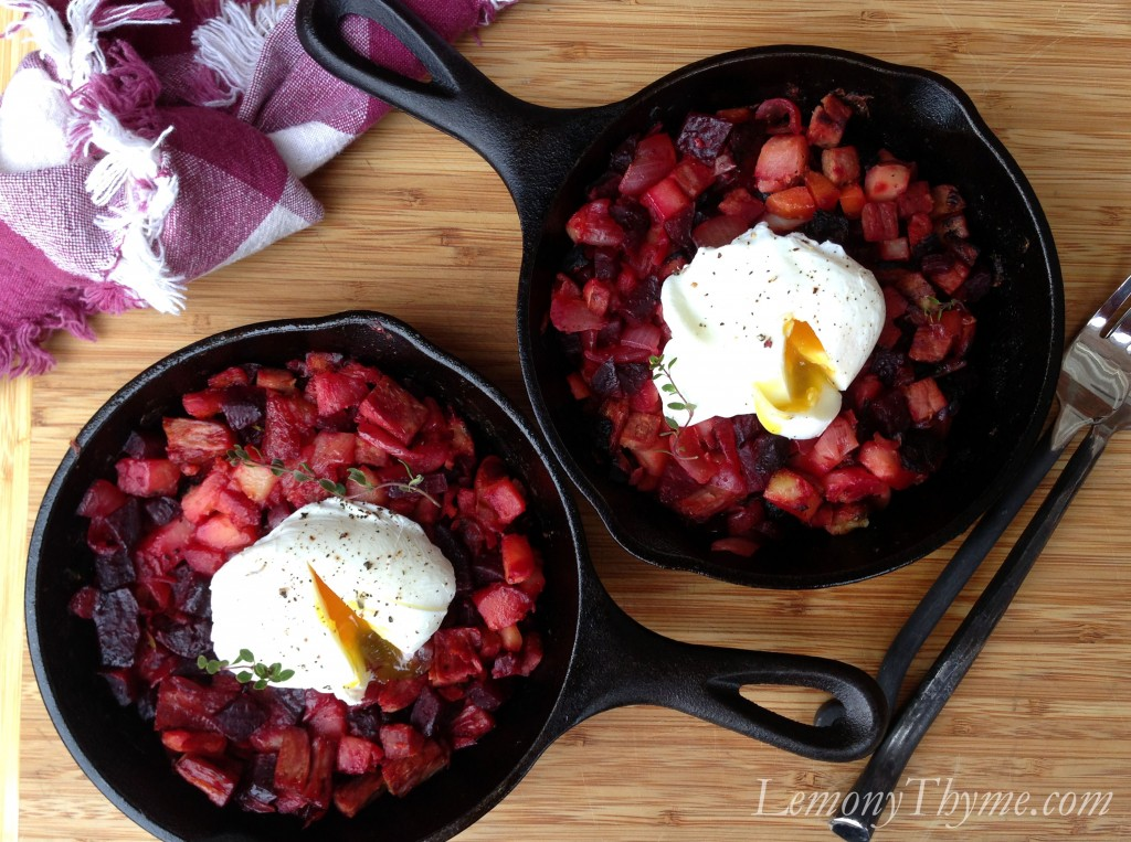 ... from the beets….oh my my Red Flannel Hash , how I love you