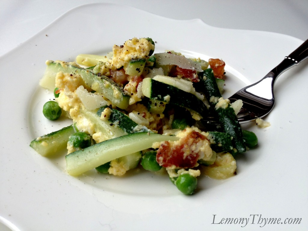 Zucchini Carbonara & Scrambled Eggs {Breakfast for Dinner} Lemony ...