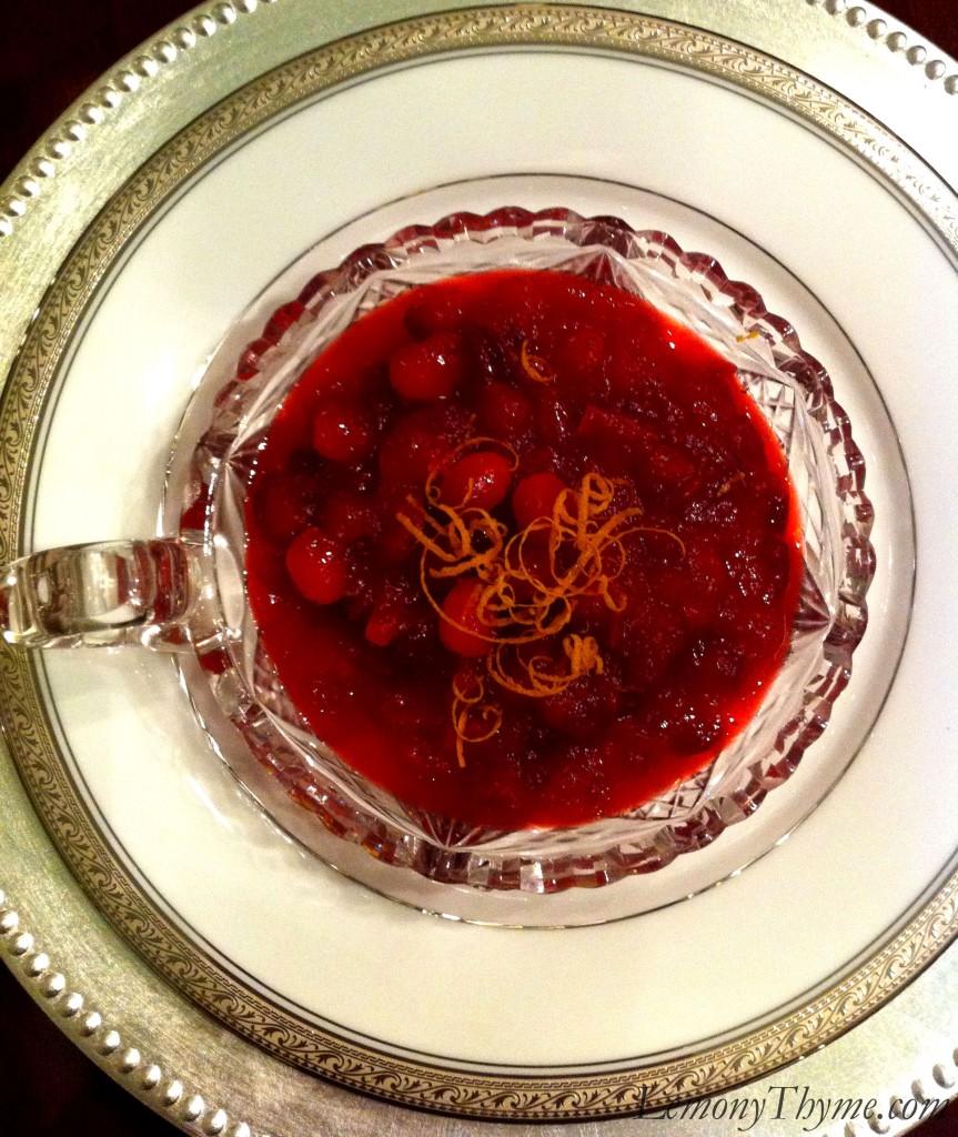 Cranberry Orange Chutney {with Crystallized Ginger} Lemony Thyme
