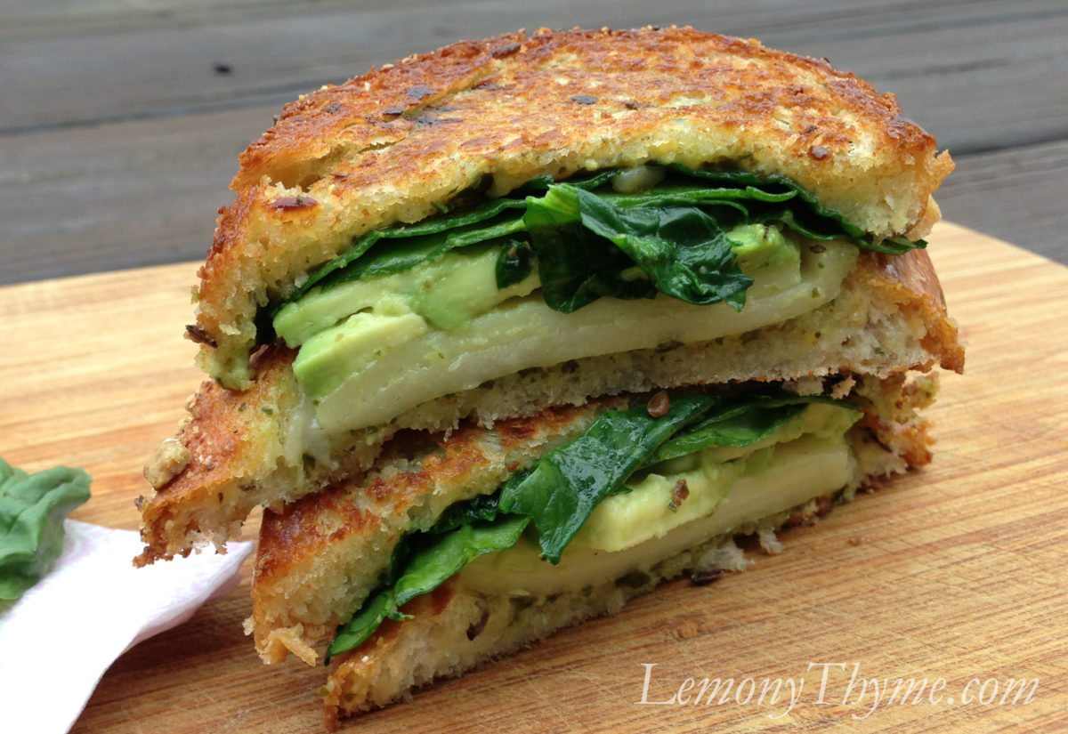Spinach Alfredo Grilled Cheese Sandwiches Lemony Thyme