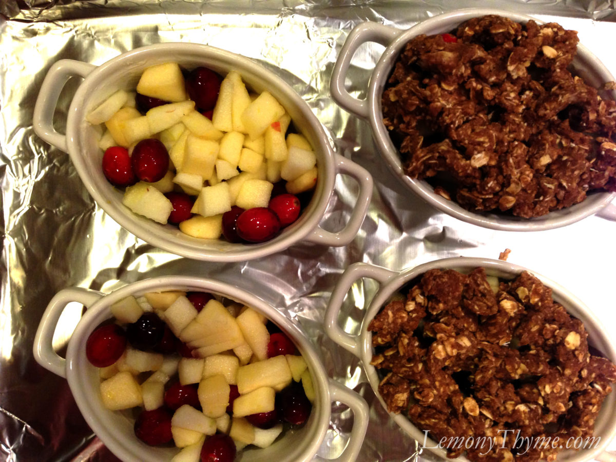 ... on top of warm Apple Cranberry Crisp is most definitely a happy place