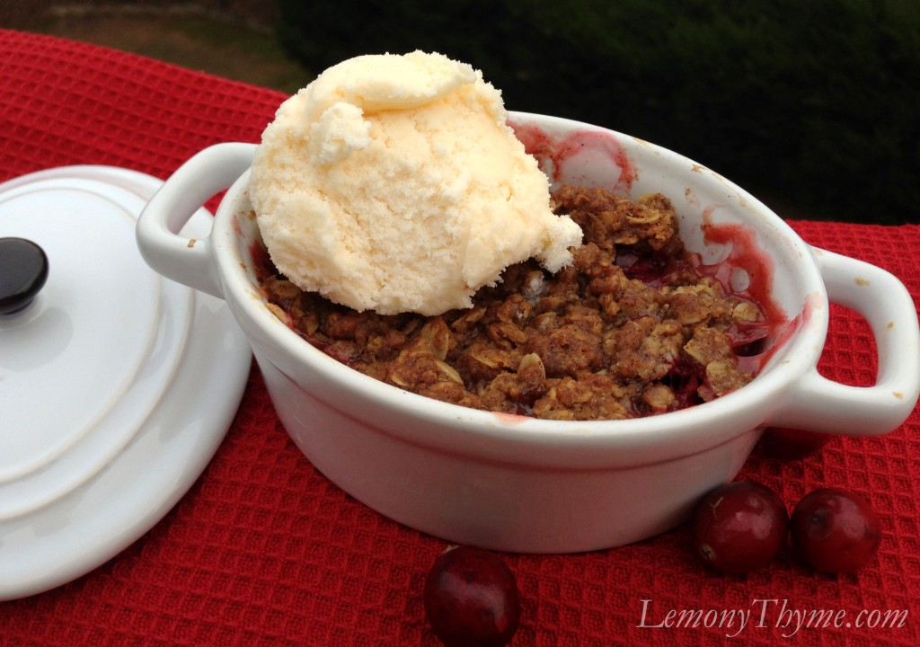 Apple Cranberry Crisp Lemony Thyme
