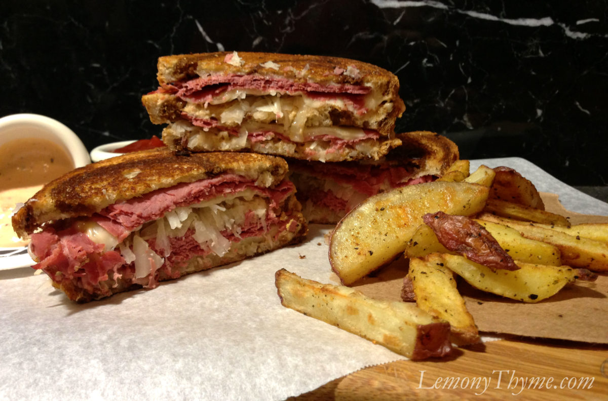 the classic reuben sandwich with homemade russian dressing