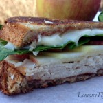 Smoked Turkey & Brie Grilled Cheese {with Apple & Spinach}
