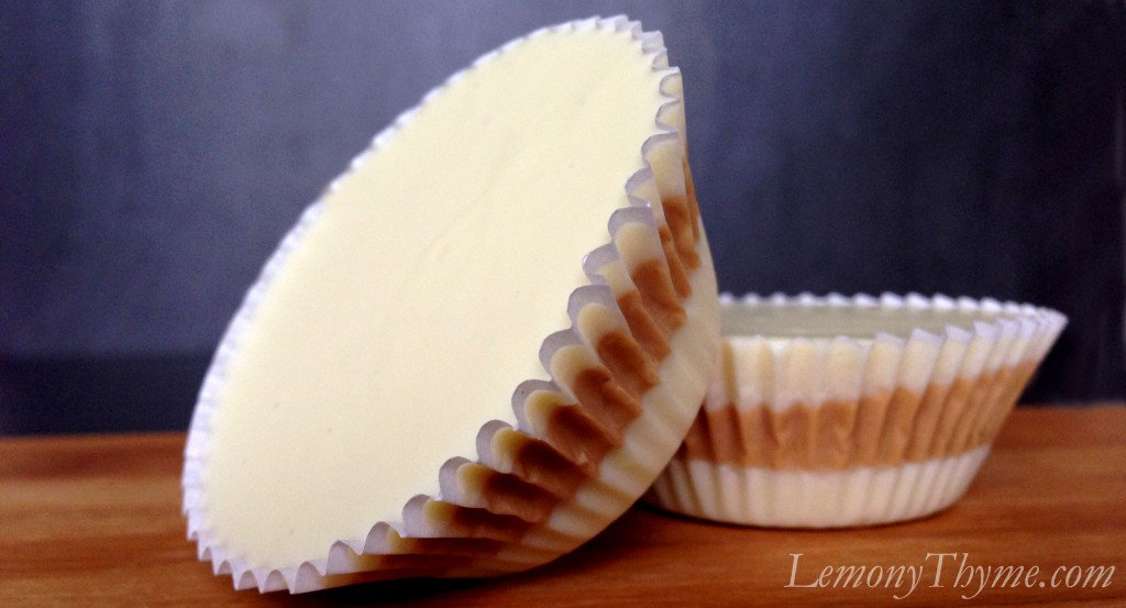 ... Butter Cups, then there were these. White Chocolate Peanut Butter Cups