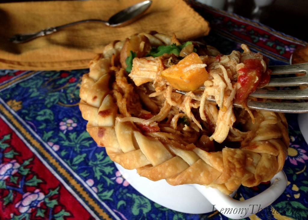 African Chicken Peanut Stew {Pot Pies} Lemony Thyme