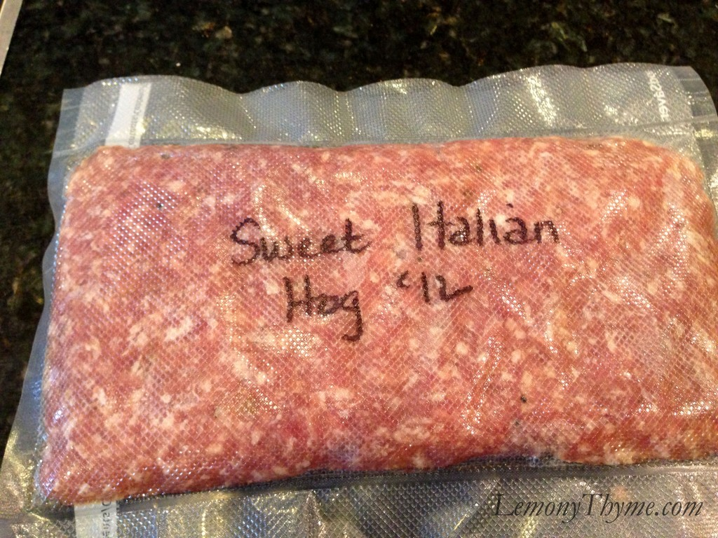 Sweet Italian Wild Hog Sausage