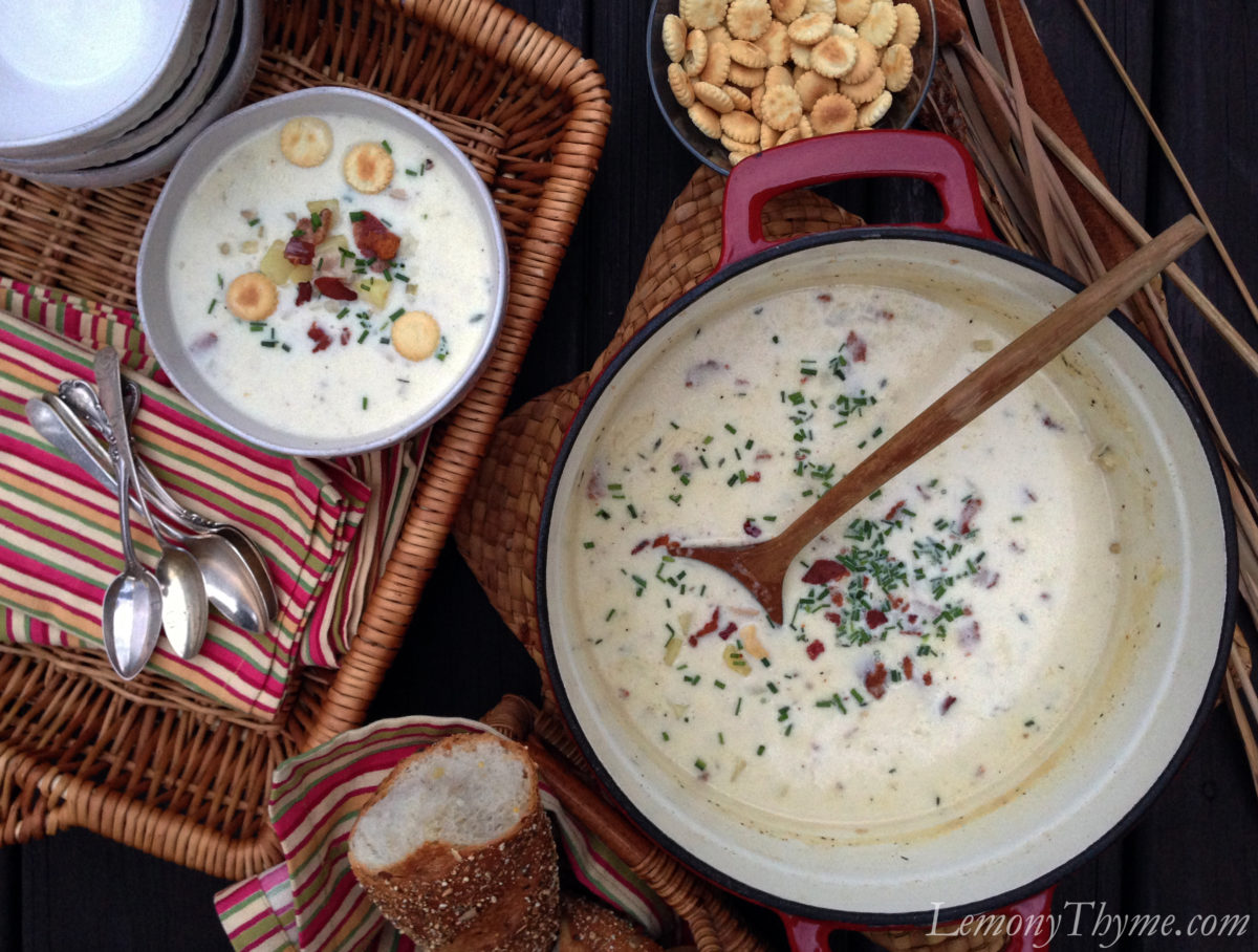 Fish Chowder {and a Fish! story} Sausage & Potato Soup {with Spinach ...