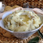 Herbed Buttermilk Mashed Potatoes with Roasted Garlic