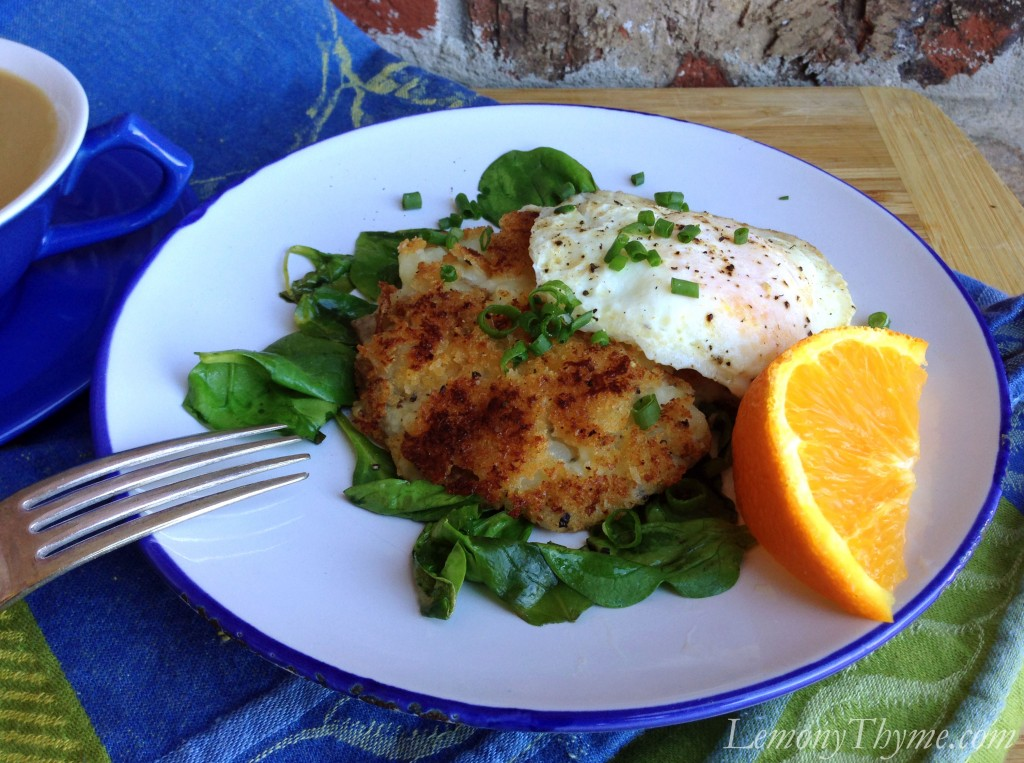 Herbed Potato Pancakes {with Fried Eggs} Lemony Thyme