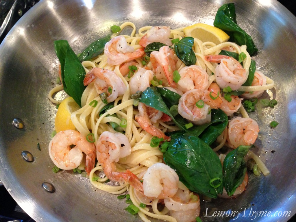 Lemon Basil Shrimp & Pasta {and some exciting news} Lemony Thyme