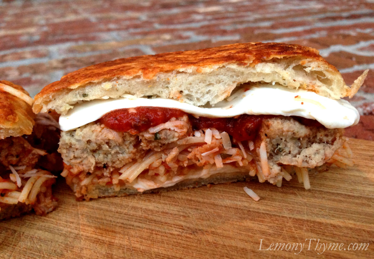 Spaghetti & Meatball Grilled Cheese Sandwich Lemony Thyme