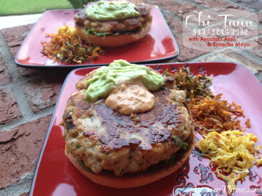Ahi Tuna Burger from Lemony Thyme