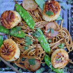 Asian Noodles with Seared Sea Scallops