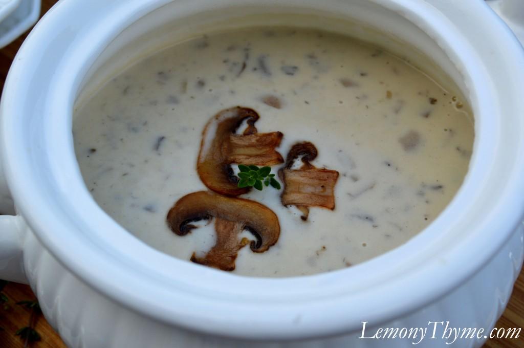 Homemade Cream of Mushroom Soup.