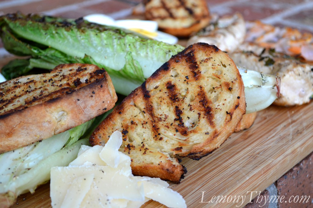 Grilled Caesar Salad with Herb Grilled Chicken & Shrimp1 Lemony ...