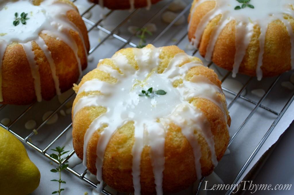 Lemony Thyme Pound Cake {with Lemon Glaze} Lemony Thyme