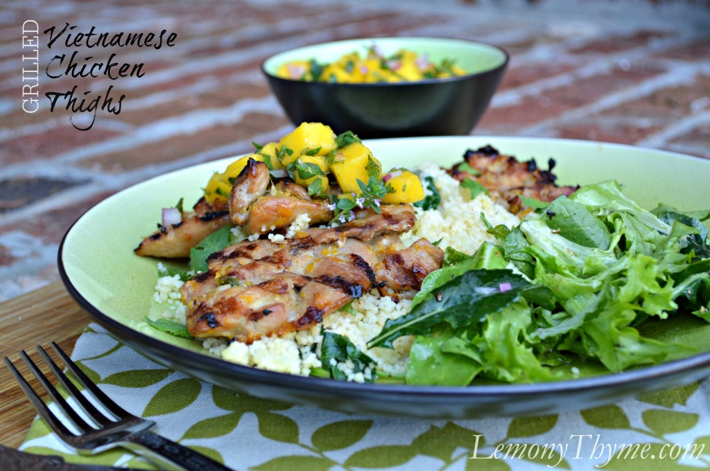 Grilled Vietnamese Chicken Thighs from Lemony Thyme