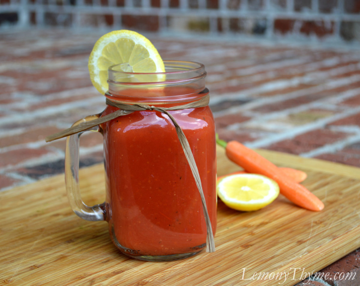Homemade Fresh Tomato Juice {Vegetable Juice}