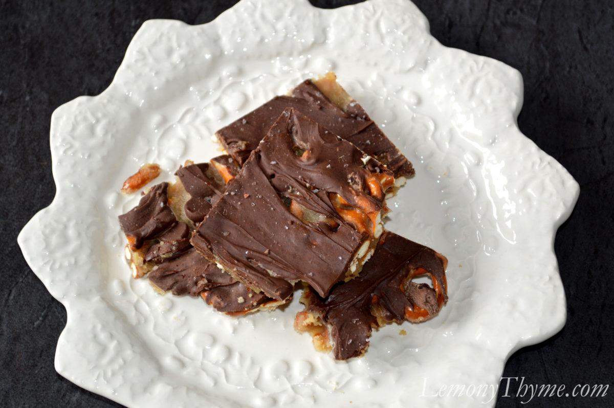Salted Chocolate Pretzel Toffee