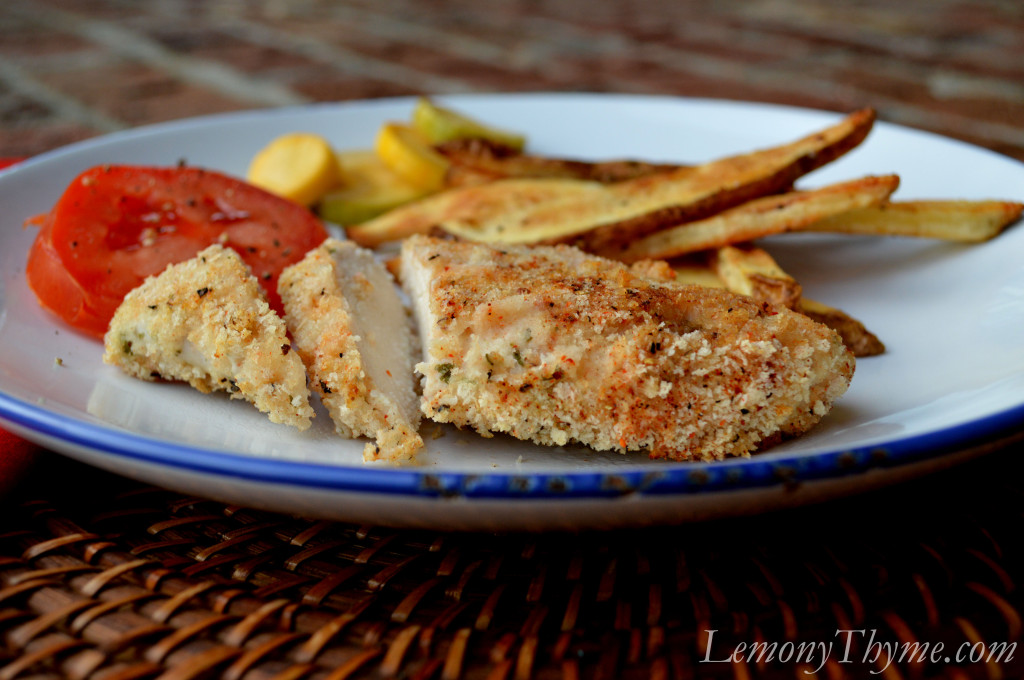 Oven 'Fried' Chicken {with Sriracha Honey} Lemony Thyme