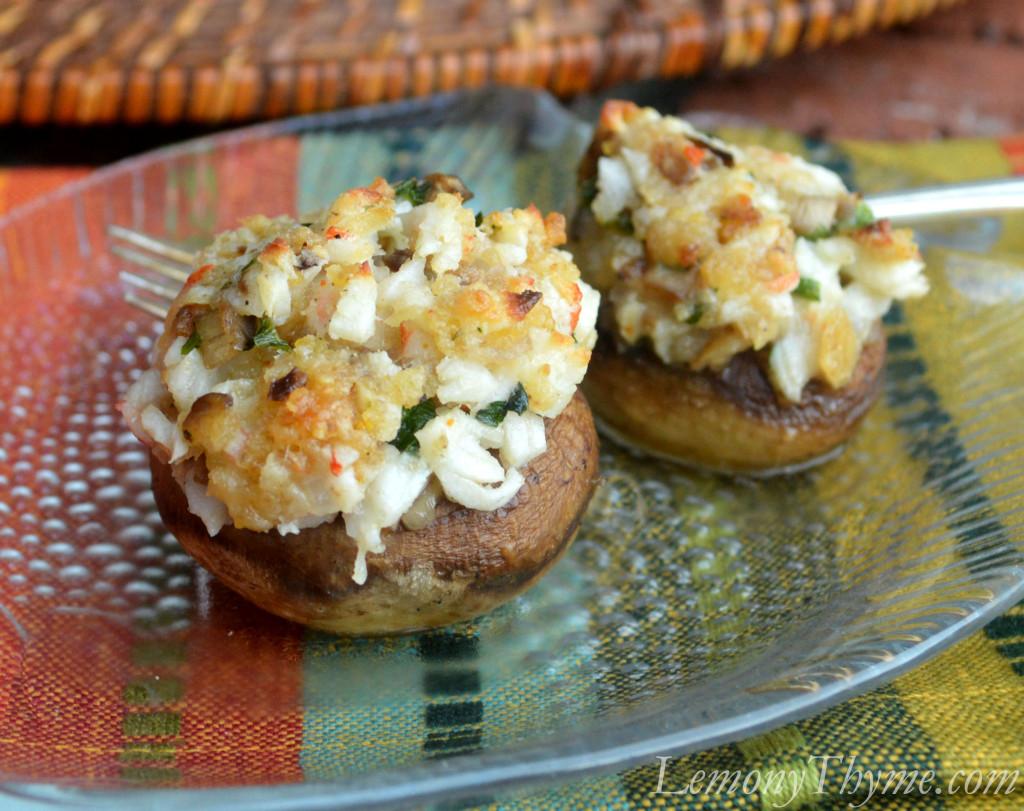 Crab Stuffed Mushrooms Crab stuffed mushrooms