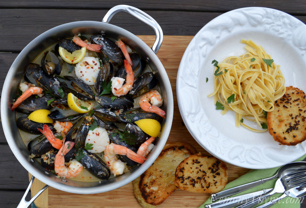 with mussels and linguini with baby clams and linguini with fresh ...