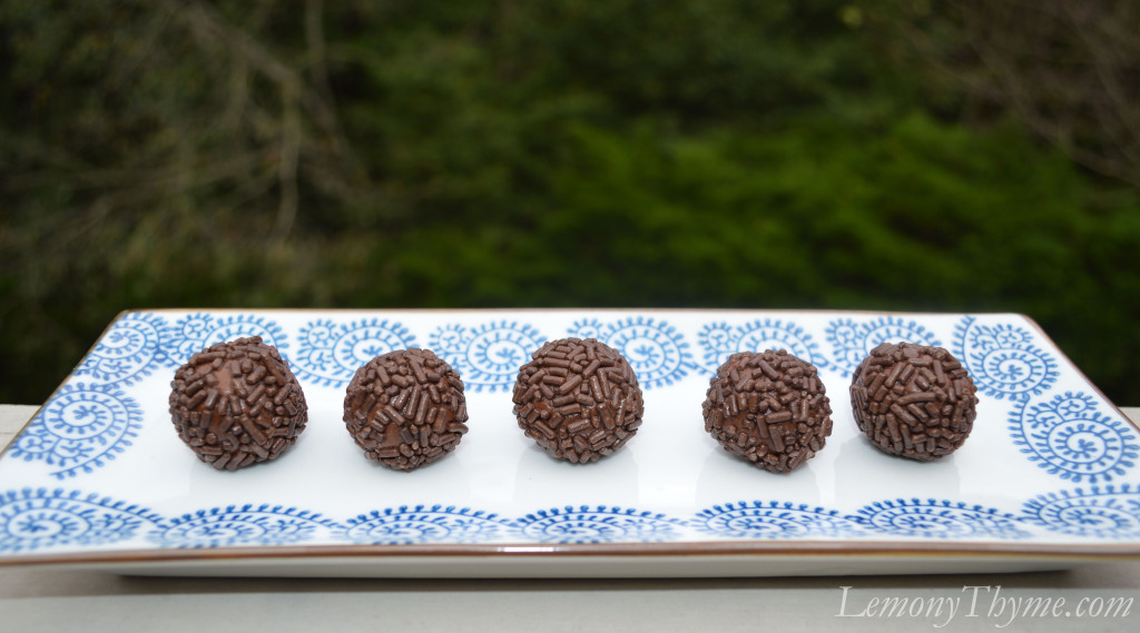 Chocolate Rum Balls {Share the Love} Lemony Thyme