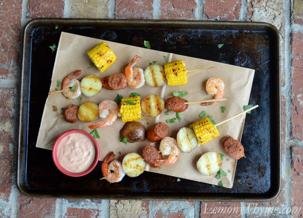 Grilled Shrimp-Boil Skewers Recipes — Dishmaps