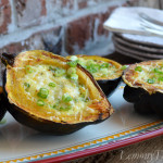 Roasted Acorn Squash with Corn Pudding