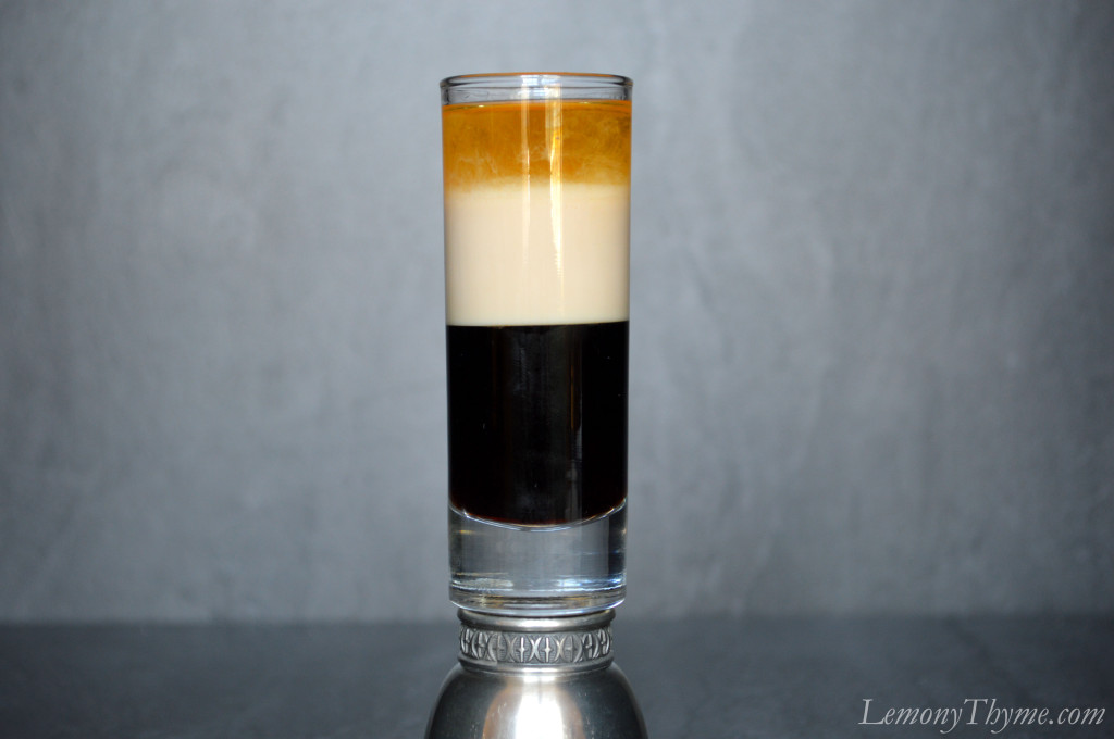 The B-52 Cocktail   served in a shot glass  makes me a little crazy    B52 Shot