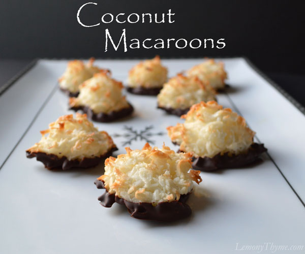 Coconut Macaroons . Who knew?