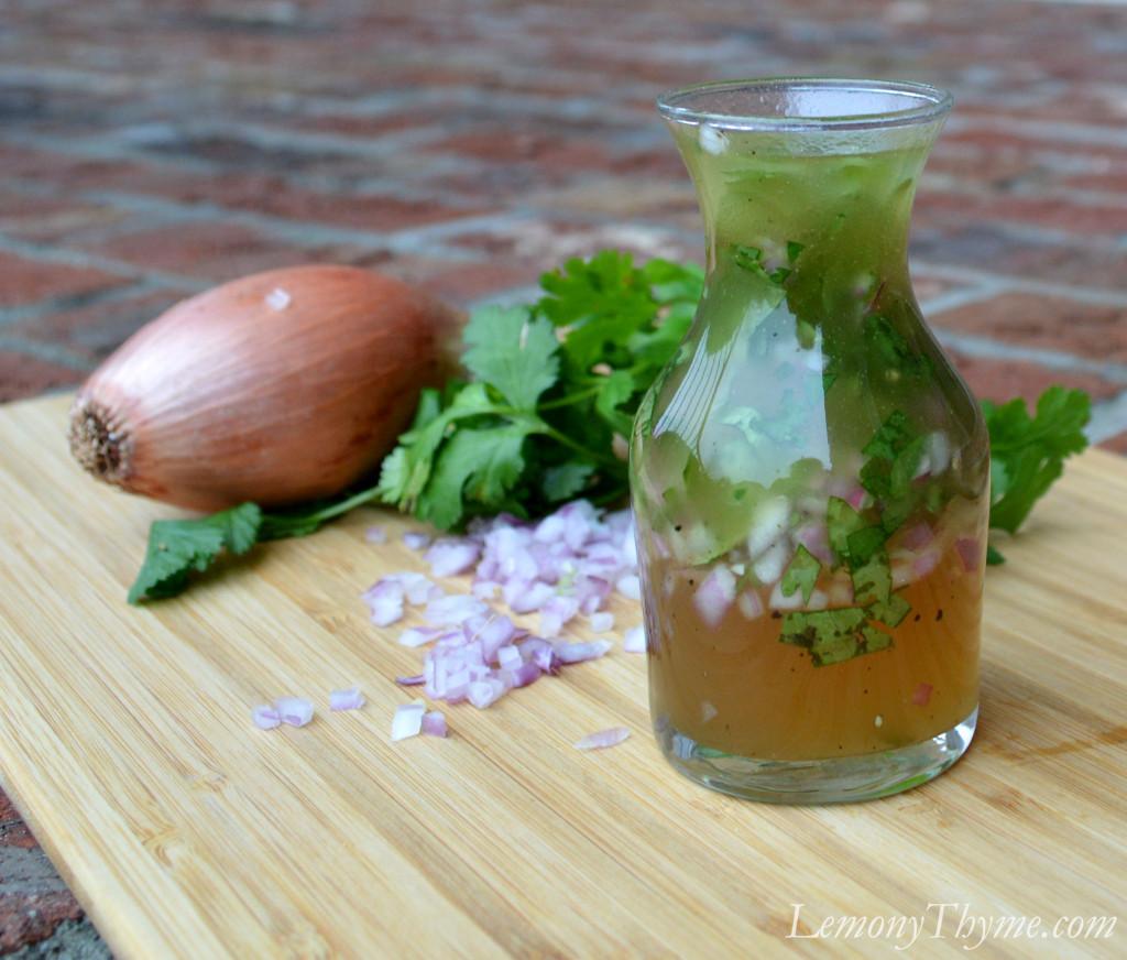 Honey Ginger Vinaigrette with Shallot & Cilantro