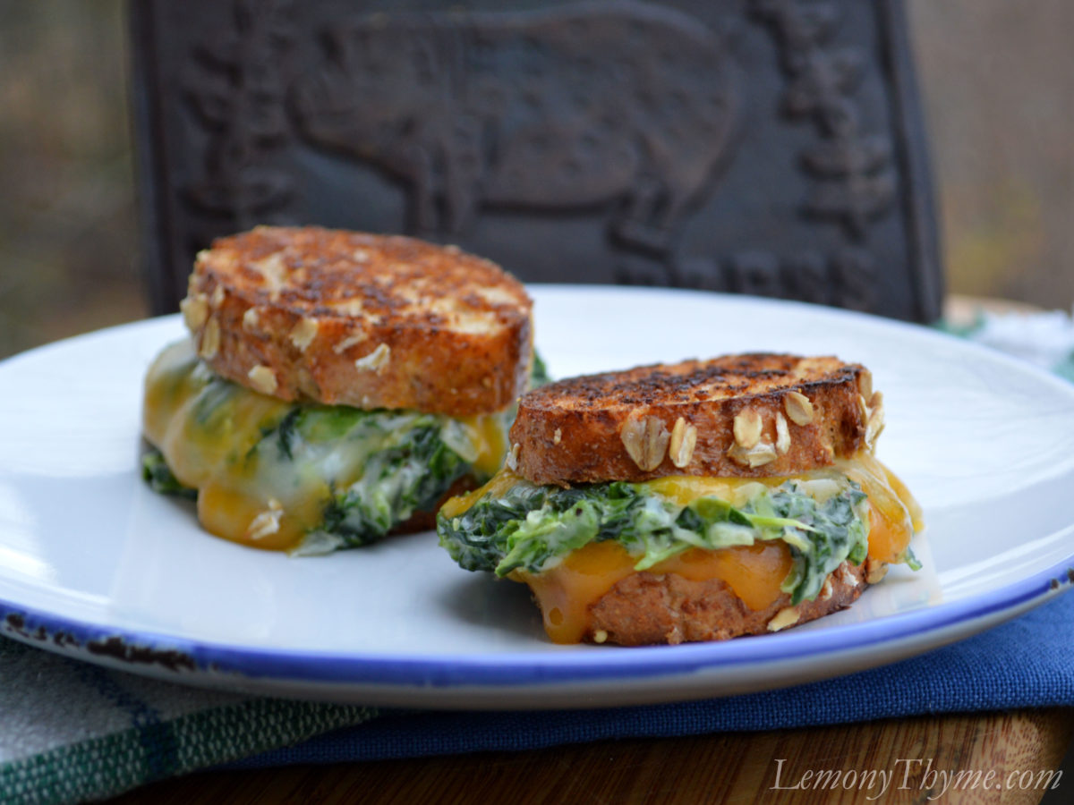 spinach alfredo grilled cheese sandwiches california grilled cheese ...