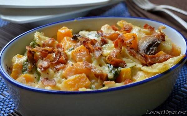 Cheesy Butternut Squash Pasta Bake
