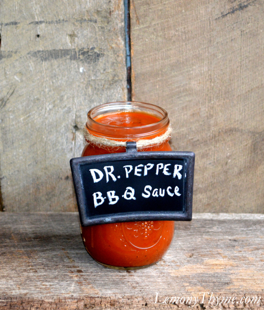 Homemade Dr. Pepper BBQ Sauce {in Secret Santa Style} Lemony Thyme