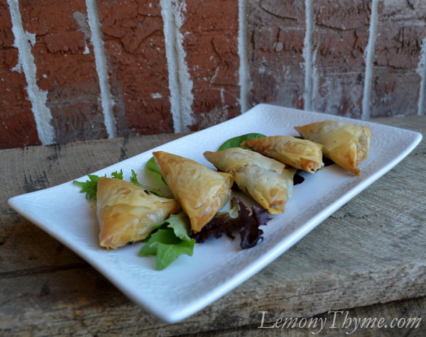 Spinach Phyllo Triangles
