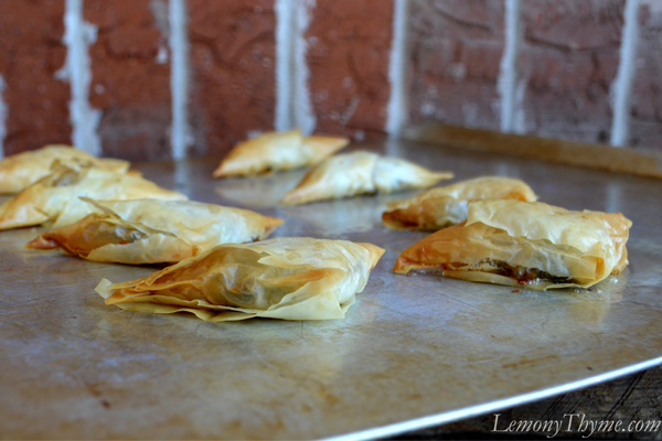Spinach Phyllo Triangles11