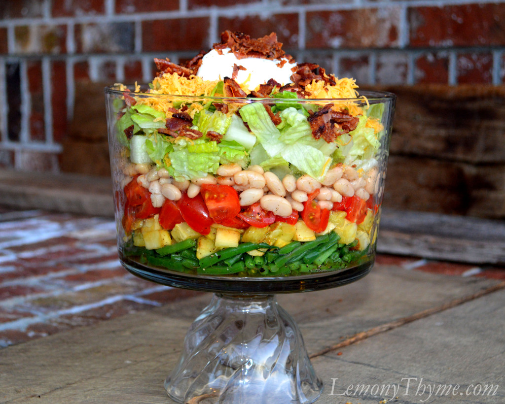 This Warm 7-Layer Salad is addicting and gorgeous. There'..