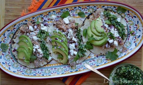 Summer Squash Tacos With Avocado Chimichurri Sauce Recipe — Dishmaps