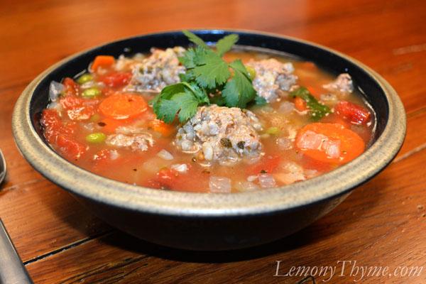 Albóndigas Soup {Mexican Meatball Soup} Lemony Thyme