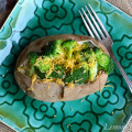 Baked Potato with Garlic Roasted Broccoli & Cheddar