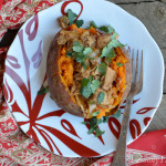 Baked Sweet Potato with Curried Chicken1