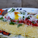 Herb Infused Polenta with Poached Eggs